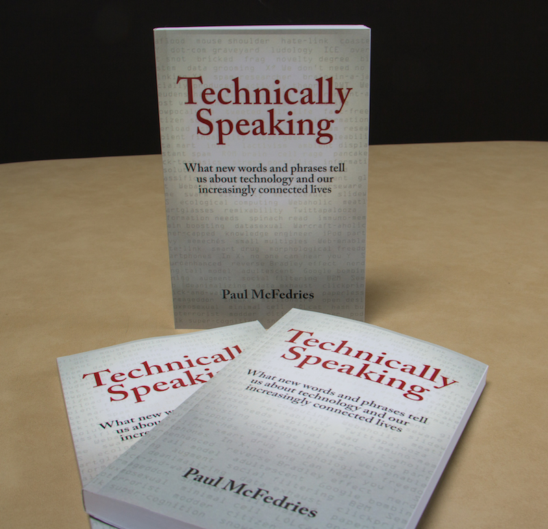 The first copies of Technically Speaking have arrived!
