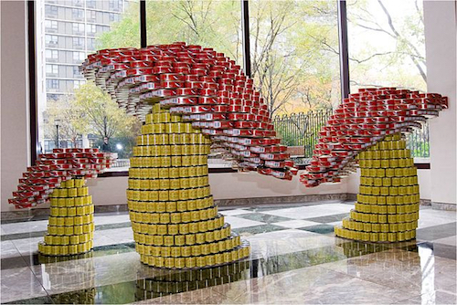 A canstruction called 'A Fungus to Feed Us'. Source: Wikipedia