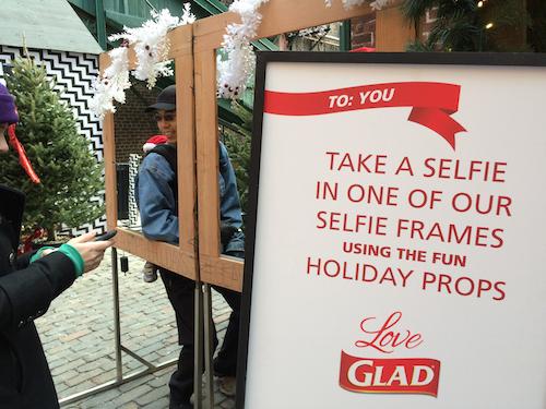 A selfie frame